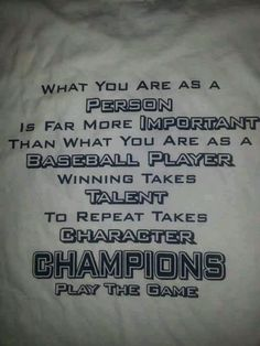 Team shirts - For EVERY Sport!  Love this saying!!!