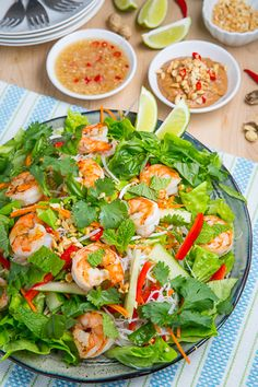Vietnamese Summer Roll Salad in Peanut Dressing