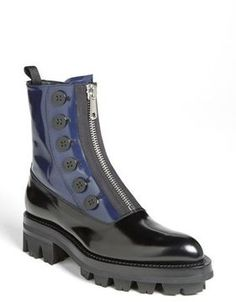 Miu Miu Combat Boot Womens Black/ Dark Blue Size 41 EU 41 EU on shopstyle.com