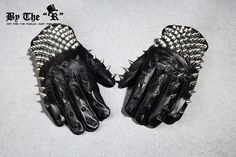 Byther Mens MAX Stud Custom Leather Gloves Korea Fashion P0000QSN | eBay