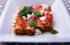 Κανελόνια με λαχανικά και κατσικίσιο τυρί Caprese Salad, Bruschetta, Cooking, Ethnic Recipes, Food, Kitchen, Kochen, Meals, Yemek