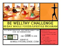 Santa Cruz, CA Enjoy a combination 40-day whole foods cleanse with unlimited yoga classes at Luma Yoga Studio, plus general health classes & wellness booklet, group conference and much more.    Sign up … Click flyer for more >>