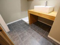 H&Iさんの洗面室の全体の様子『床はクッションフロア』(7943-6)