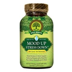 Well Roots Mood Up Stress Down, Softgels - 60 ea