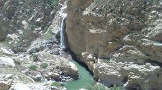 Catarata en cañón del pato.  Huaraz Perú.
