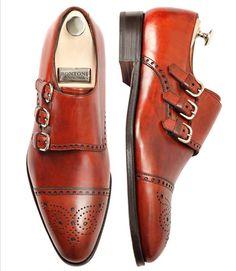 Very rare Bontoni Excelsior Triple-Monk-Straps shoes