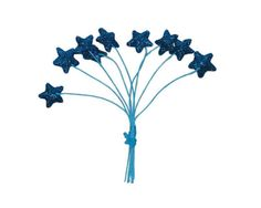 24 Mini stars with wire picks. Lots of color by CelebrationMarket