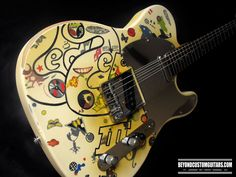 Telecaster with Led Zeppelin III Customwork by www.beyondcustomguitars.com