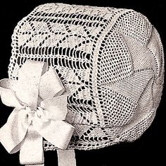 Vintage Crochet PATTERN to make - 1915 Antique Baby Cap Hat Bonnet Pinwheel Design. This is a pattern and/or instructions to make the item only. - I Crochet World Crochet Bib, Love Crochet, Thread Crochet, Irish Crochet, Vintage Crochet, Lace Patterns, Crochet Blanket Patterns, Crochet Christening Patterns, Crochet Baby Clothes