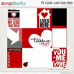 Quality DigiScrap Freebies: Love Live Here journal cards freebie from Scrap Stacks
