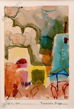 Paul Klee, Tunesische Scizze, 1914 on ArtStack Watercolor Paintings Abstract, Watercolor Artists, Abstract Oil, Painting Art, Wassily Kandinsky, Paul Klee Art, Indian Paintings, Oil Paintings, Landscape Paintings