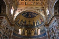 Basilica of St. John Lateran Pictures: Picture of Mosaic detail, apse, Basilica of St. John Lateran in Rome