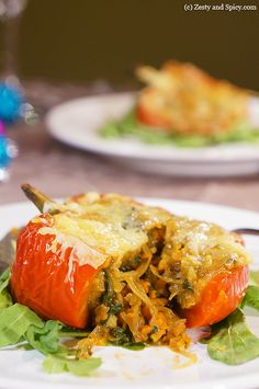 Stuffed Peppers - I modified this a bit b/c the directions didn't quite make sense, then added some hot sauce.  Delicious!