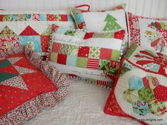 Hello and happy December! I've been starting to pull out my Christmas decor...and I started with the pillows. I love making Christmas pillows because they are usually quick to make and because they ad