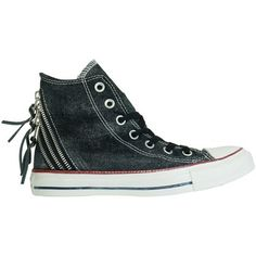 dikke Converse ct tri zip hi dames sneakers (Wit)