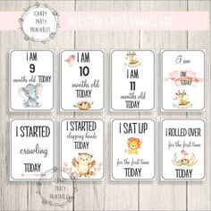 Your place to buy and sell all things handmade Baby Shower Cakes For Boys, Baby Shower Party Favors, Baby Shower Games, Baby Shower Parties, Baby Boy Shower, Baby Milestone Chart, Baby Monthly Milestones, Baby Album, Baby Scrapbook