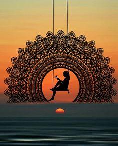 Mandala Art Therapy, Mandala Art Lesson, Mandala Artwork, Mandala Drawing, Mandala Painting, 3d Art Drawing, Dark Art Drawings, Art Drawings Sketches Simple, Indian Art Paintings
