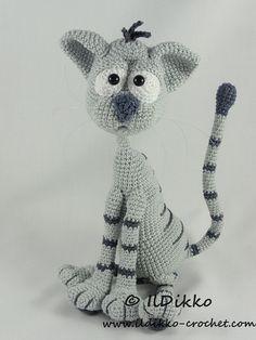 Amigurumi Crochet Pattern  Kit the Cat par IlDikko sur Etsy