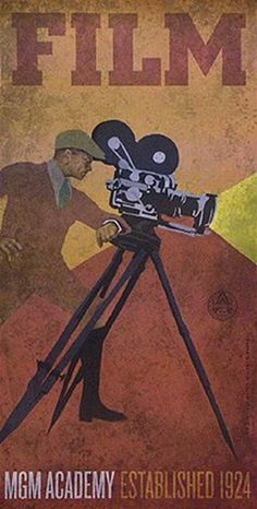 cartel de cine antiguo