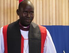 Bishop Stephen Dokolo of Lui, South Sudan preaches at Advent Church, Crestwood.