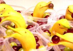 Dolfijn banaan met druiven