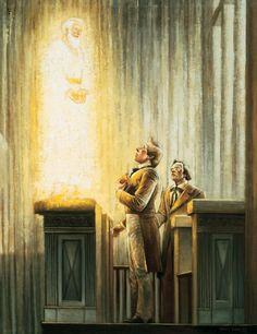 Elijah Restores the Power to Seal Families for Eternity Lds Meetinghouse, Kirtland Temple, Lds Clipart, Church History, Family History, Library Pictures, Lds Church, Latter Day Saints, Mormon Temples