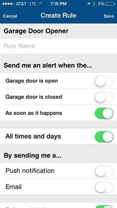MyQ App - Sends you alerts when your garage door is left open Smart Garage Door Opener, Take The First Step, Smart Home, All About Time, Garage Doors, Shit Happens, Diy, Smart House, Bricolage