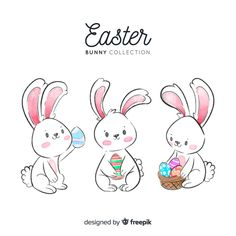 Watercolor easter day bunny collection F. Easter Art, Easter Crafts, Easter Bunny, Easter Illustration, Happy Easter Day, Easter Pictures, Pictures Images, Easter Printables, Vintage Easter