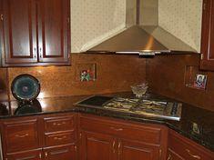 copper backsplash for the kitchen