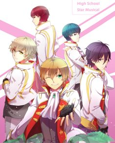 FINALLY-- I found FANART of this goddamn show! >_< Why is it so underrated~?or maybe the question should be: why do I even care about this anime when I didn't even like UtaPri? Hot Anime Guys, Some Pictures, Vocaloid, Manga Anime, Art Projects, Musicals, High School, Animation, Cosplay