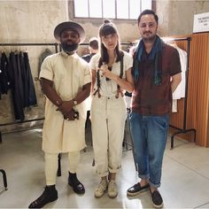 Tanning our be-hinds: OUIGI + PONYTAIL + GEORGE in the @libertyfairs hall at Pitti /  @oakstreetbootmakers