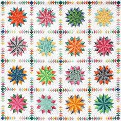 Harlequin Stars Quilt Pattern by Emma Jean Jansen. Fabric Range: Terra Australis 2 by Emma Jean Jansen, released June 2014.