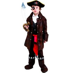 Get ready for adventures on the open seas when you get your pirate this fun costume. The boot tops have an elastic band at the bottom to keep them in place as well as skull imprint along the cuff for a realistic look.