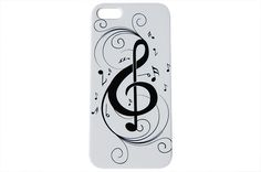 A fun musical illustration covering our white hard plastic phone case. If you love music, this case is perfect for you! Make your case stick out with one of our new and unique designs by iCandy Produc