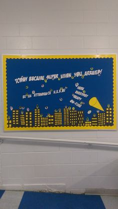 Board For Perfect Attendance Made By Staff At Miami