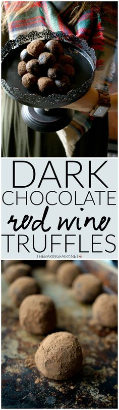 dark chocolate red wine truffles | The Baking Fairy