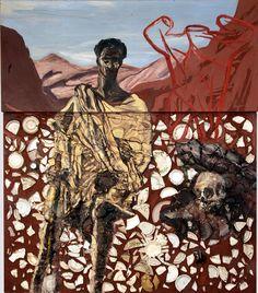 """""""San Francisco En Extasis"""" 1980, Julian Schnabel. Oleo y platos sobre madera."""