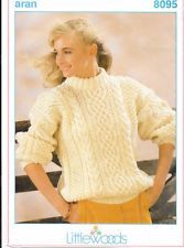 Littlewoods Pattern  8095 Knitted Lady's Aran Sweater Knitting, Lady, Sweaters, Pattern, Tricot, Breien, Pullover, Sweater, Knitting And Crocheting