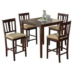 Found it at Wayfair - Vermont 5 Piece Counter Height Dining Set in Espresso List Price: $527.00 Available, now, online for: $304.00 You Save: $222.01 Sale Ends In: Two Days Free Shipping!