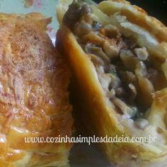 Cozinha Simples da Deia: Folhado de cogumelos e queijo