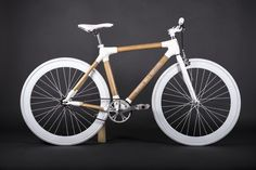 White bamboo bike