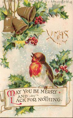 Holidays, Mary Christmas, Cards, Text & Clip Art...... Christmas Card c. 1912