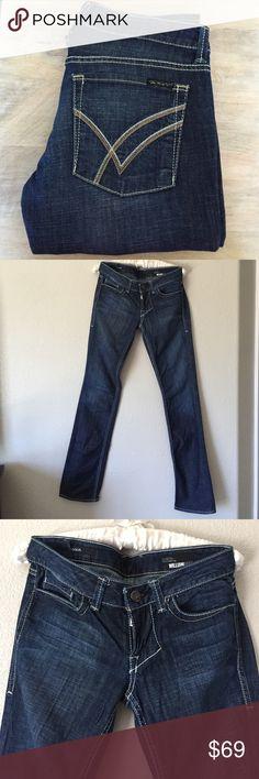 "Sadie by William Rast The Sadie Jean by William Rast. Perfect condition- like new. 33"" inseam. Dark wash. No trades. Bundle and save! William Rast Jeans Straight Leg"
