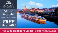 Enjoy Up To Free Airfare For Select Viking River Cruises Plus - Cruises with airfare
