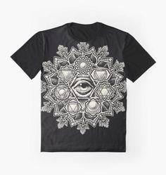 2f3bc1d9 Anahata Seven Chakra Flower Mandala Graphic T-Shirt Flower Mandala, Chakra,  Classic T