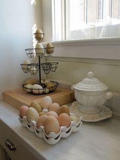 Love these eggs! - @Susan Cohan spoke of a visit to P. Allan Smith's Moss Mountain Farm