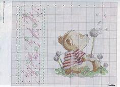 Dandelion Bear - Cross stitch