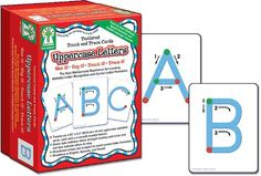 Textured Touch and Trace: Uppercase: The Best Multisensory Experience for Learning Alphabet Letter Recognition and Correct Letter Formation (Textured Touch and Trace Cards) de Key Education http://www.amazon.es/dp/1933052597/ref=cm_sw_r_pi_dp_sKiavb08DWH9M