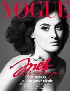 """Vogue Paris celebrates """"the ultimate Parisienne"""" with Inès de la Fressange gracing the December/January cover with two different shots by Mert & Marcus. In her editorial, Vogue Paris editor-in-chief Emmanuelle Alt, writes """"I'm often asked about the Vogue Covers, Vogue Magazine Covers, Fashion Magazine Cover, Fashion Cover, Vogue Paris, Pamela Hanson, Natalia Vodianova, V Magazine, Gloria Vanderbilt"""