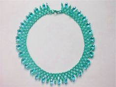Free pattern for beautiful beaded necklace Crystal Sky - See more at: http://beadsmagic.com/?p=3840#sthash.fBhQu4T6.dpuf